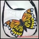 butterfly painting, maika etnik, anekataslucu, tas wanita, tas kanvas, tas bahan, katalog maika